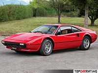 1976 Ferrari 308 GTB Vetroresina = 249 kph, 255 bhp, 6.3 sec.