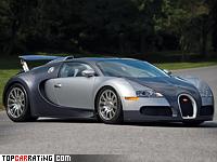 2005 Bugatti Veyron 16.4 = 407 kph, 1001 bhp, 2.5 sec.