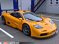 1995 McLaren F1 GTR = 381 kph, 627 bhp, 3 sec.