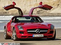 2009 Mercedes-Benz SLS AMG = 317 kph, 571 bhp, 3.8 sec.