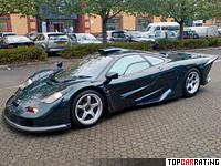 1997 McLaren F1 GT  Longtail = 391 kph, 620 bhp, 3 sec.