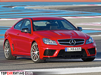 2012 Mercedes-Benz C 63 AMG Coupe Black Series = 300 kph, 517 bhp, 4.1 sec.