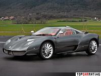 2007 Spyker C12 Zagato = 320 kph, 500 bhp, 3.8 sec.