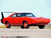 1969 Dodge Charger Daytona = 253 kph, 425 bhp, 5.7 sec.