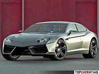 2008 Lamborghini Estoque Concept = 330 kph, 560 bhp, 3.6 sec.