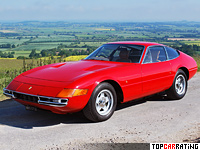1968 Ferrari 365 GTB/4 Daytona = 280 kph, 352 bhp, 5.8 sec.