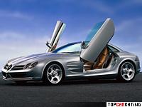 mercedes benz vision slr concept 55 litre v8 rwd 1999
