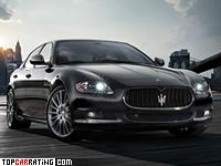 2009 Maserati Quattroporte Sport GT S = 285 kph, 440 bhp, 5.3 sec.