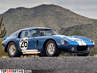 1964 Shelby Cobra Daytona Coupe = 307 kph, 390 bhp, 4.4 sec.