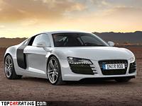 2007 Audi R8 = 301 kph, 420 bhp, 4.6 sec.