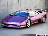 1994 Lamborghini Diablo SE30 = 338 kph, 527 bhp, 4 sec.