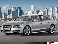 2012 Audi S8 = 250 kph, 520 bhp, 4.2 sec.