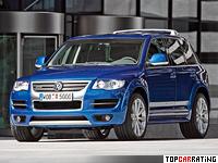 2007 Volkswagen Touareg R50 = 235 kph, 350 bhp, 6.9 sec.