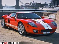 2004 Ford GT = 330 kph, 558 bhp, 3.9 sec.