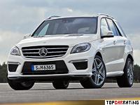 2012 Mercedes-Benz ML 63 AMG = 280 kph, 557 bhp, 4.6 sec.