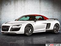2012 Audi R8 Spyder Mansory = 320 kph, 552 bhp, 3.9 sec.