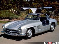 1954 Mercedes-Benz 300 SL Gullwing = 211 kph, 215 bhp, 7.4 sec.