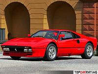 1984 Ferrari 288 GTO = 306 kph, 400 bhp, 4.8 sec.
