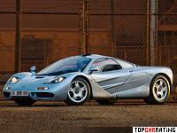 1993 McLaren F1 = 386 kph, 627 bhp, 3.2 sec.