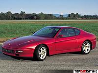 1992 Ferrari 456 GT = 302 kph, 442 bhp, 5.2 sec.