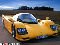 1994 Dauer 962 Le Mans Porsche = 402 kph, 730 bhp, 2.7 sec.