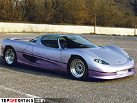 1992 Monteverdi Hai 650 F1 = 335 kph, 578 bhp, 3 sec.