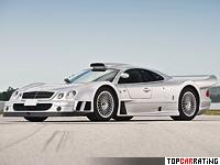 1998 Mercedes-Benz CLK GTR AMG Coupe = 335 kph, 664 bhp, 3.5 sec.