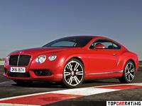2012 Bentley Continental GT V8 = 303 kph, 507 bhp, 4.8 sec.