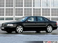 1996 Audi S8 = 250 kph, 340 bhp, 5 sec.