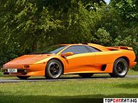 1995 Lamborghini Diablo SV = 328 kph, 510 bhp, 3.9 sec.