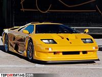 1997 Lamborghini Diablo GT1 = 350 kph, 655 bhp, 3 sec.