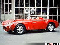 1953 Lancia D24 Pininfarina Spider Sport = 265 kph, 265 bhp, 5.2 sec.