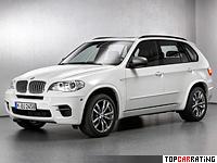 2012 BMW X5 M50d = 250 kph, 381 bhp, 5.4 sec.