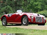 1947 Ferrari 125S = 170 kph, 120 bhp, 8.5 sec.