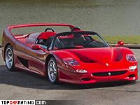 1995 Ferrari F50 = 325 kph, 513 bhp, 3.7 sec.