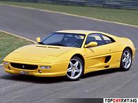 1994 Ferrari F355 Berlinetta = 295 kph, 380 bhp, 4.6 sec.