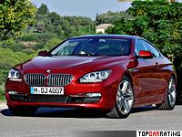2011 BMW 650i Coupe = 250 kph, 407 bhp, 4.9 sec.