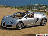 2008 Bugatti Veyron 16.4 Grand Sport = 407 kph, 1001 bhp, 2.7 sec.