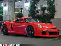 2011 RUF CTR3 Porsche = 375 kph, 750 bhp, 3.2 sec.