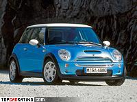 2001 Mini Cooper S = 214 kph, 163 bhp, 7.6 sec.