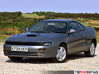 1989 Toyota Celica GT-Four (ST185) generation V = 230 kph, 204 bhp, 7.9 sec.