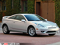 2002 Toyota Celica GT-S (ZZT-231) generation VII = 220 kph, 182 bhp, 6.5 sec.