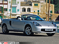1999 Toyota MR2 Roadster (W30) generation III = 211 kph, 138 bhp, 8 sec.