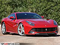 2012 Ferrari F12 Berlinetta = 340 kph, 740 bhp, 3.1 sec.
