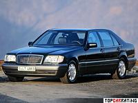 1991 Mercedes-Benz 600 SEL (W140) = 250 kph, 408 bhp, 6.7 sec.