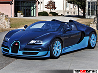 2012 Bugatti Veyron Grand Sport Vitesse = 410 kph, 1200 bhp, 2.6 sec.