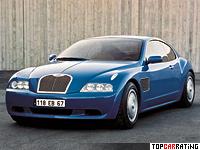 1998 Bugatti EB 118 Concept = 320 kph, 555 bhp, 4.4 sec.