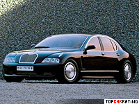 1999 Bugatti EB 218 Concept = 300 kph, 555 bhp, 4.5 sec.