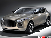 2009 Aston Martin Lagonda Concept = 290 kph, 477 bhp, 5.5 sec.