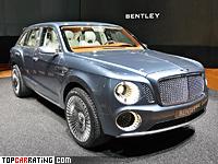 2012 Bentley EXP 9 F Concept = 300 kph, 621 bhp, 5 sec.
